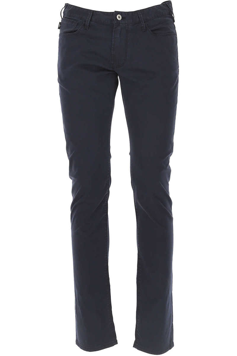 Emporio Armani Pants for Men On Sale Navy Blue - GOOFASH