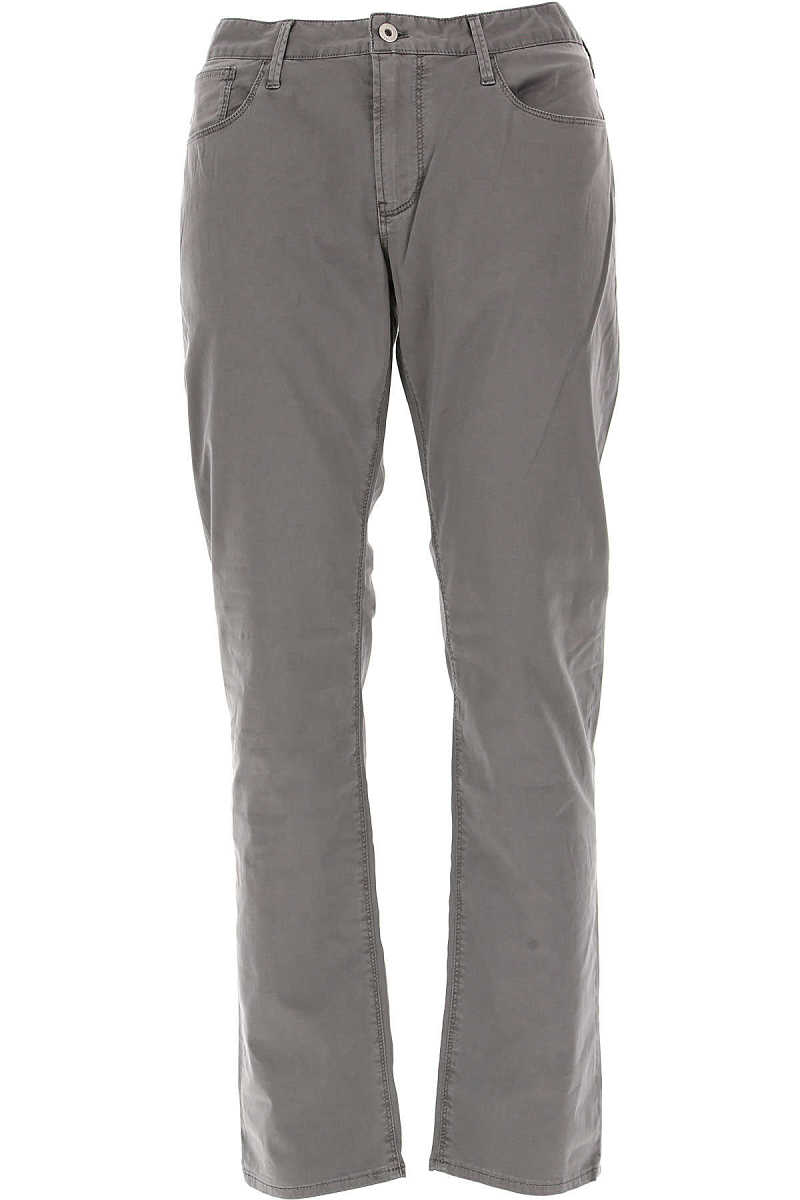 Emporio Armani Pants for Men On Sale in Outlet Charcoal Grey UK - GOOFASH - Mens TROUSERS