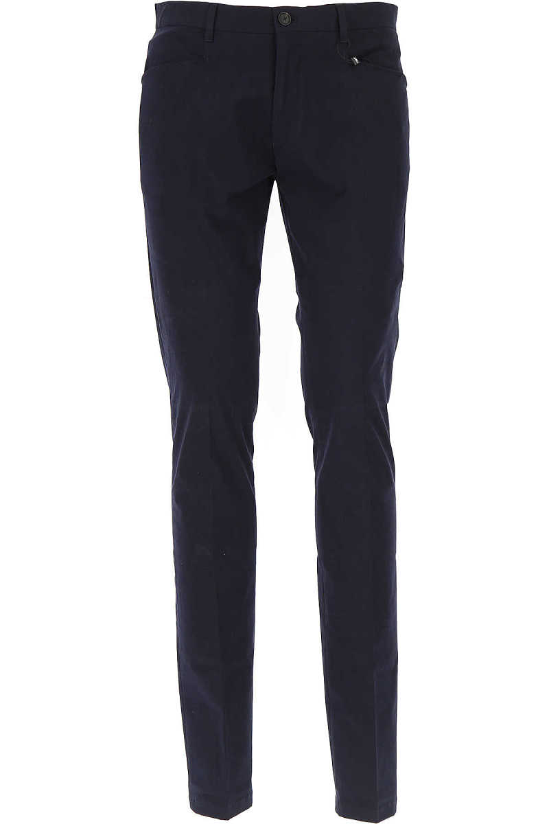 Emporio Armani Pants for Men On Sale in Outlet Dark Blue - GOOFASH