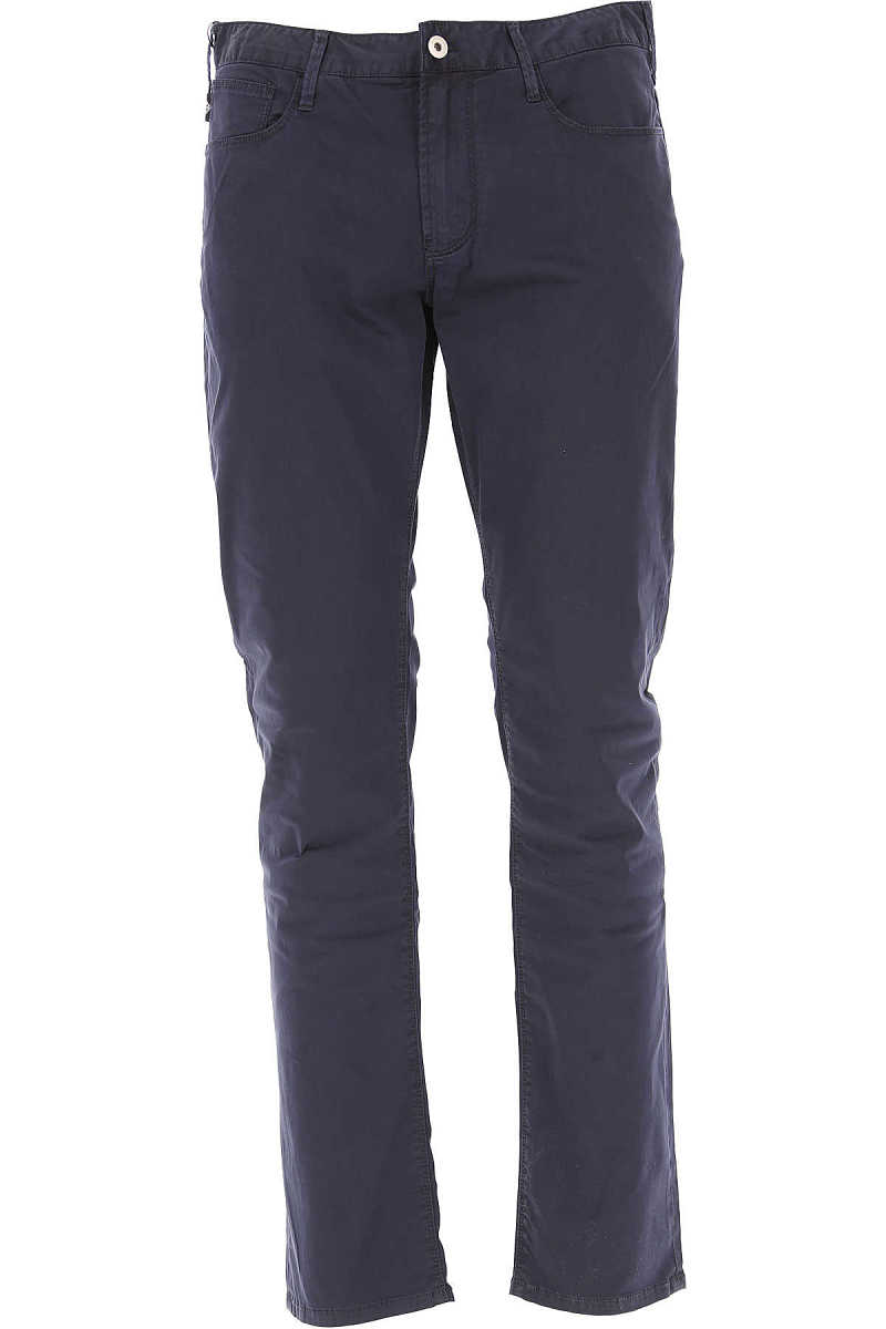 Emporio Armani Pants for Men On Sale in Outlet Navy Blue - GOOFASH