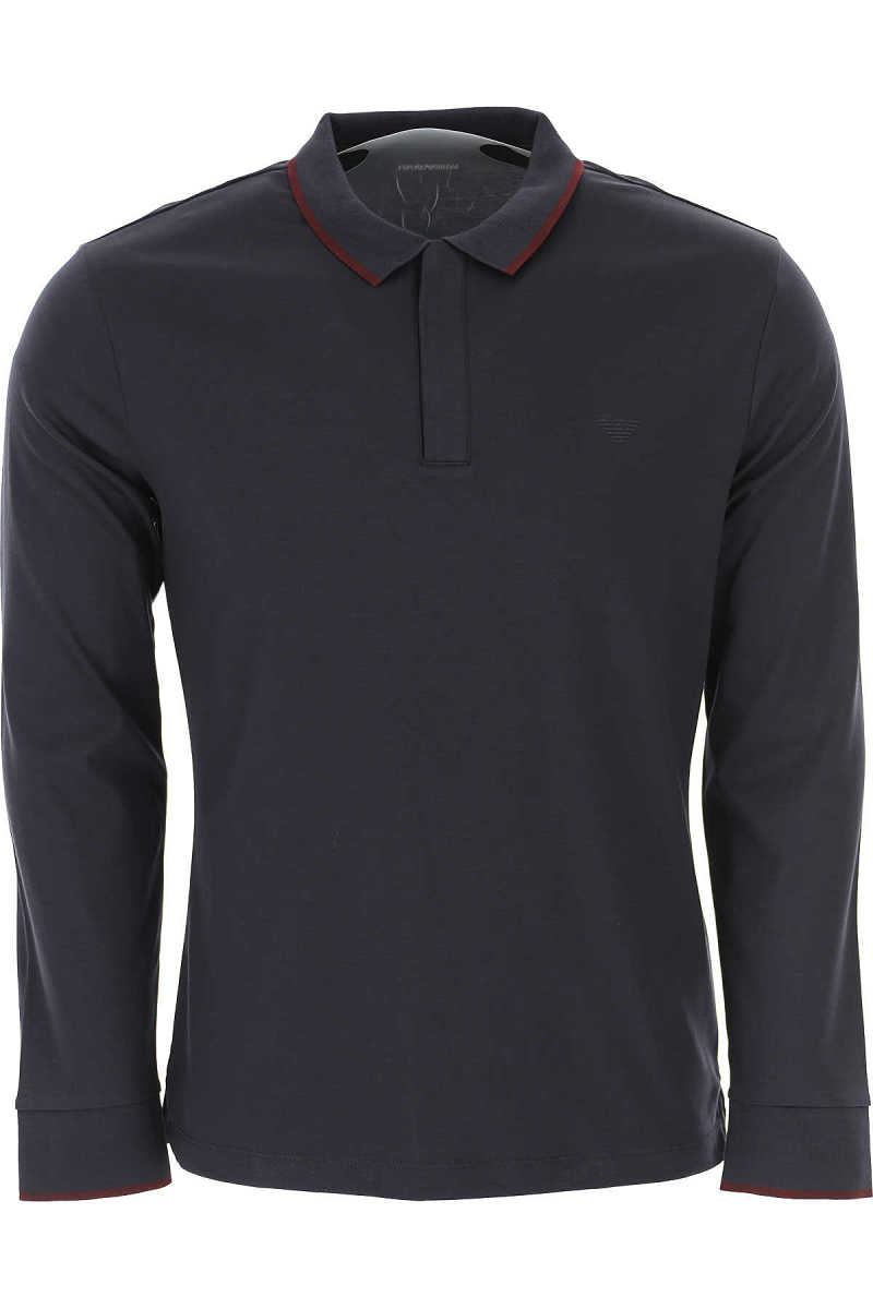 Emporio Armani Polo Shirt for Men Navy Blue - GOOFASH