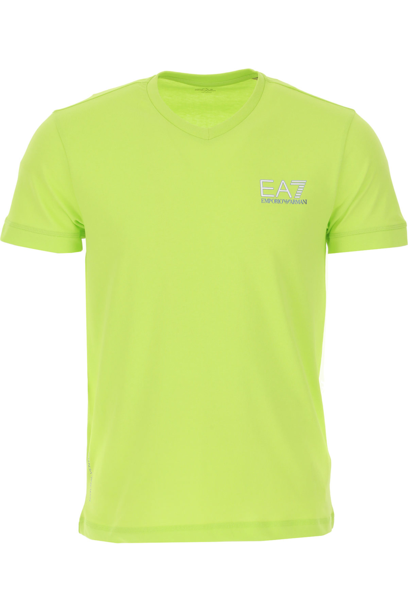 Emporio Armani T-Shirt for Men On Sale Lime - GOOFASH