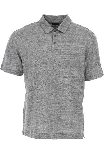 Ermenegildo Zegna Polo Shirt for Men On Sale Grey Melange - GOOFASH