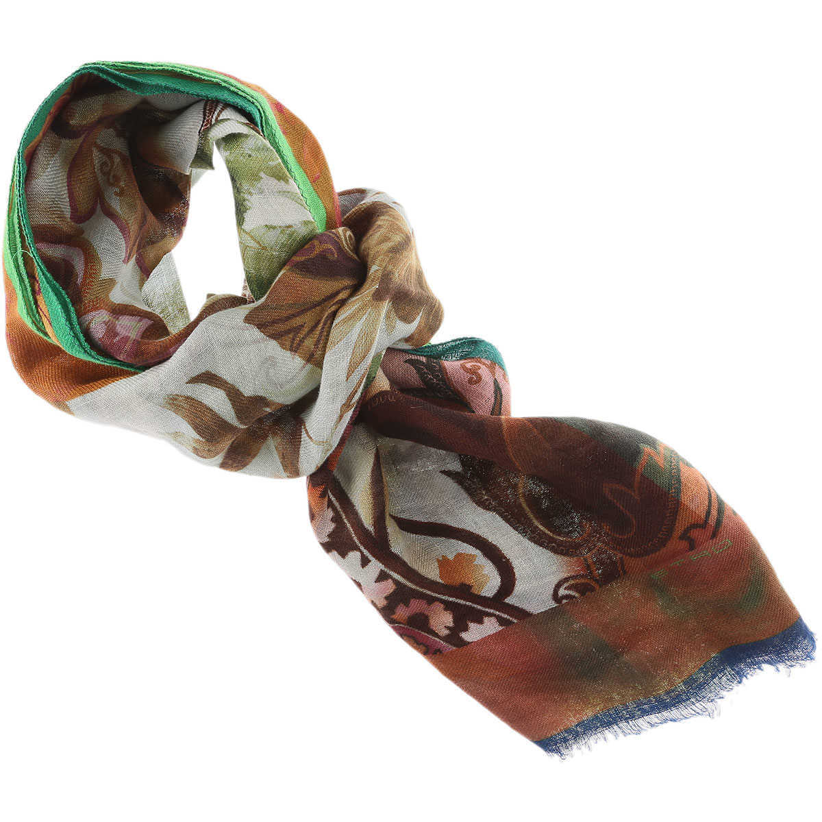 Etro Scarf for Men On Sale Brown UK - GOOFASH - Mens SCARFS