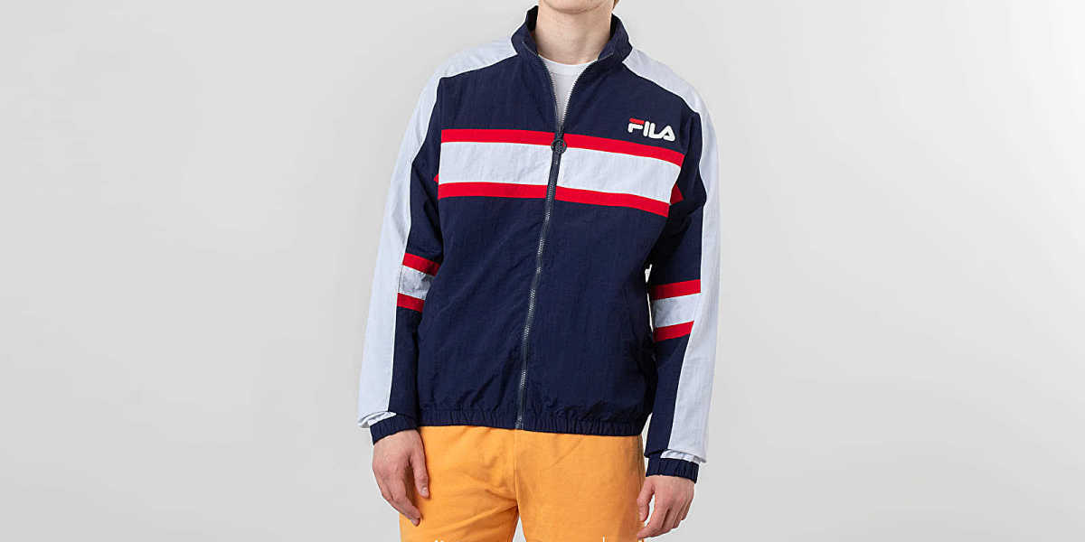 FILA Carter Colour Block Track Jacket Peacoat HU - GOOFASH - Mens COATS