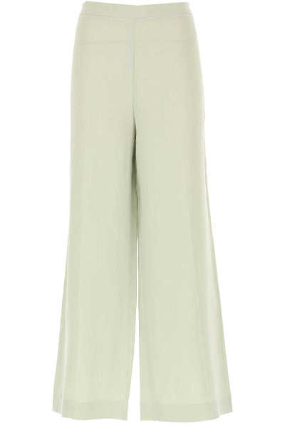 Fabiana Filippi Pants for Women On Sale Pale Sage UK - GOOFASH