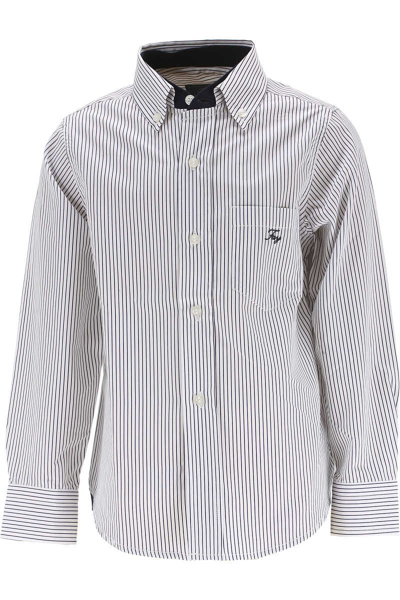 Fay Kids Shirts for Boys On Sale in Outlet White - GOOFASH - Mens SHIRTS