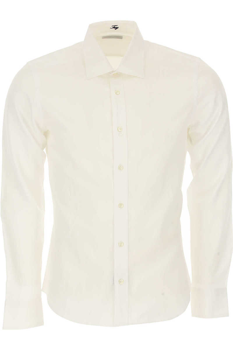 Fay Shirt for Men On Sale in Outlet White UK - GOOFASH - Mens SHIRTS