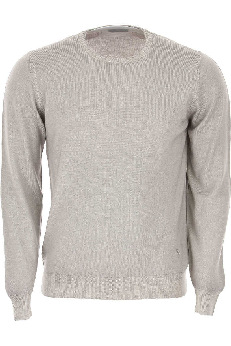 Fay Sweater for Men Jumper On Sale Grey - GOOFASH