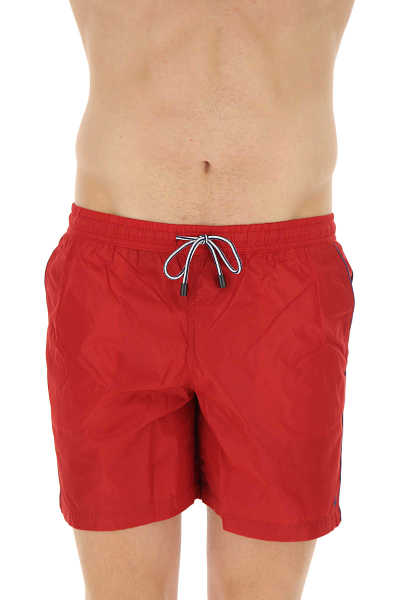 Fay Swim Shorts Trunks for Men On Sale Dark Red UK - GOOFASH