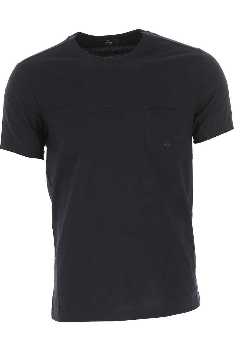 Fay T-Shirt for Men On Sale Blue Ink UK - GOOFASH - Mens T-SHIRTS