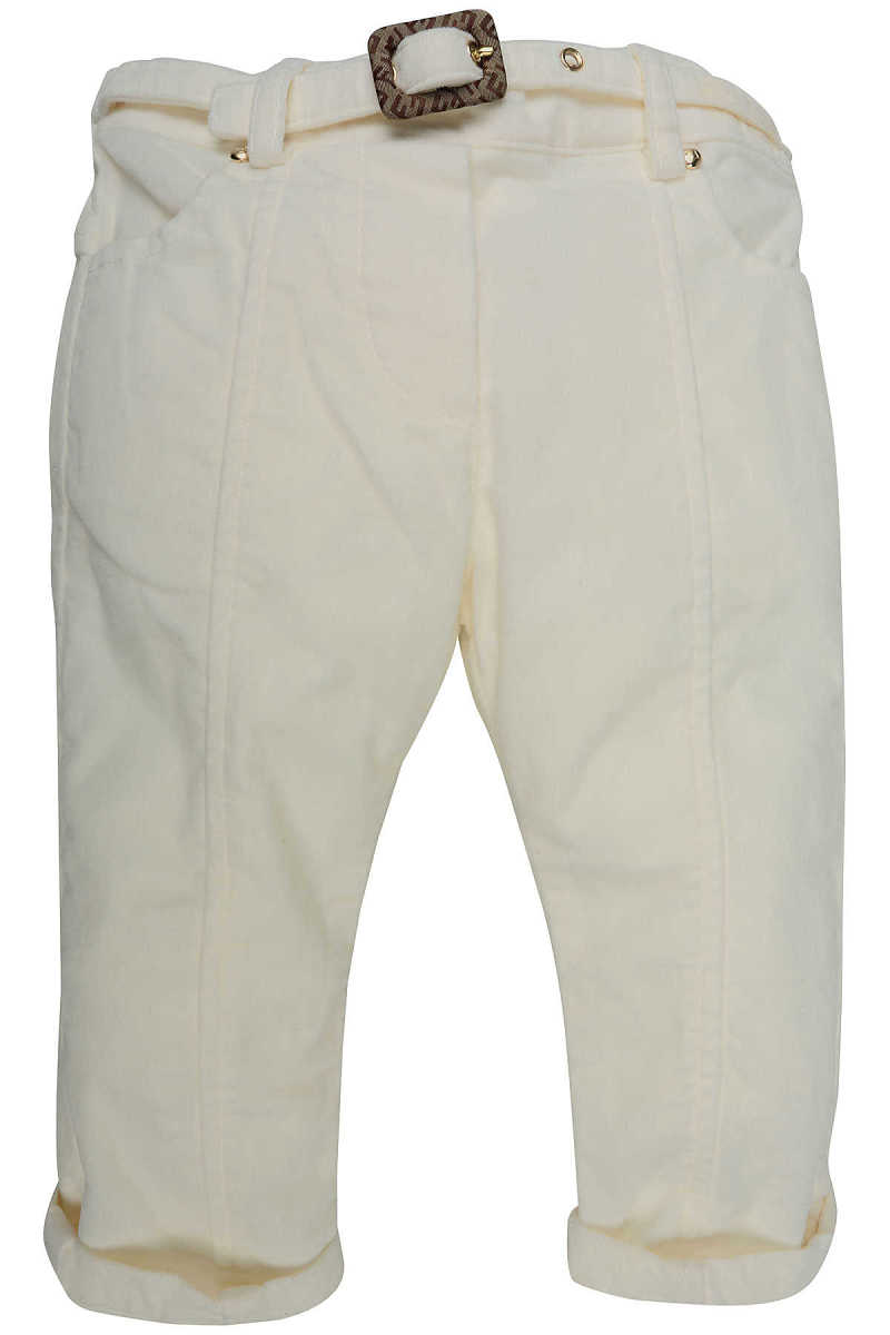 Fendi Baby Pants for Girls On Sale in Outlet White UK - GOOFASH - Womens TROUSERS