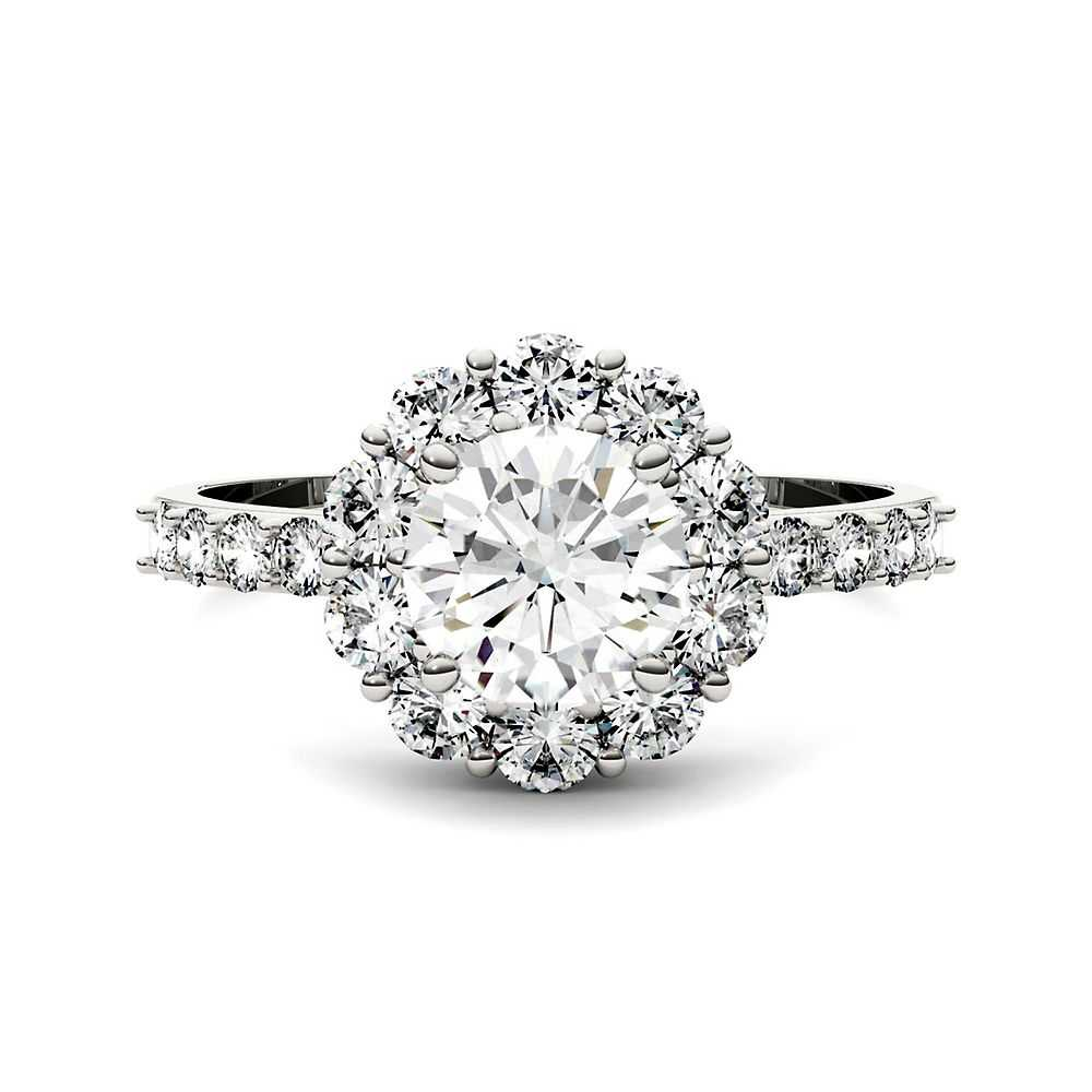 Forever One™ 1 7/8 ct. tw. Moissanite Ring in 14K White Gold - Forever One USA - GOOFASH - Womens JEWELRY