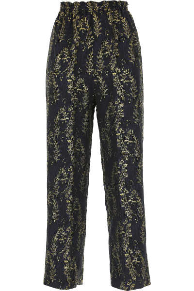 Forte Forte Pants for Women Midnight Blue UK - GOOFASH - Womens TROUSERS