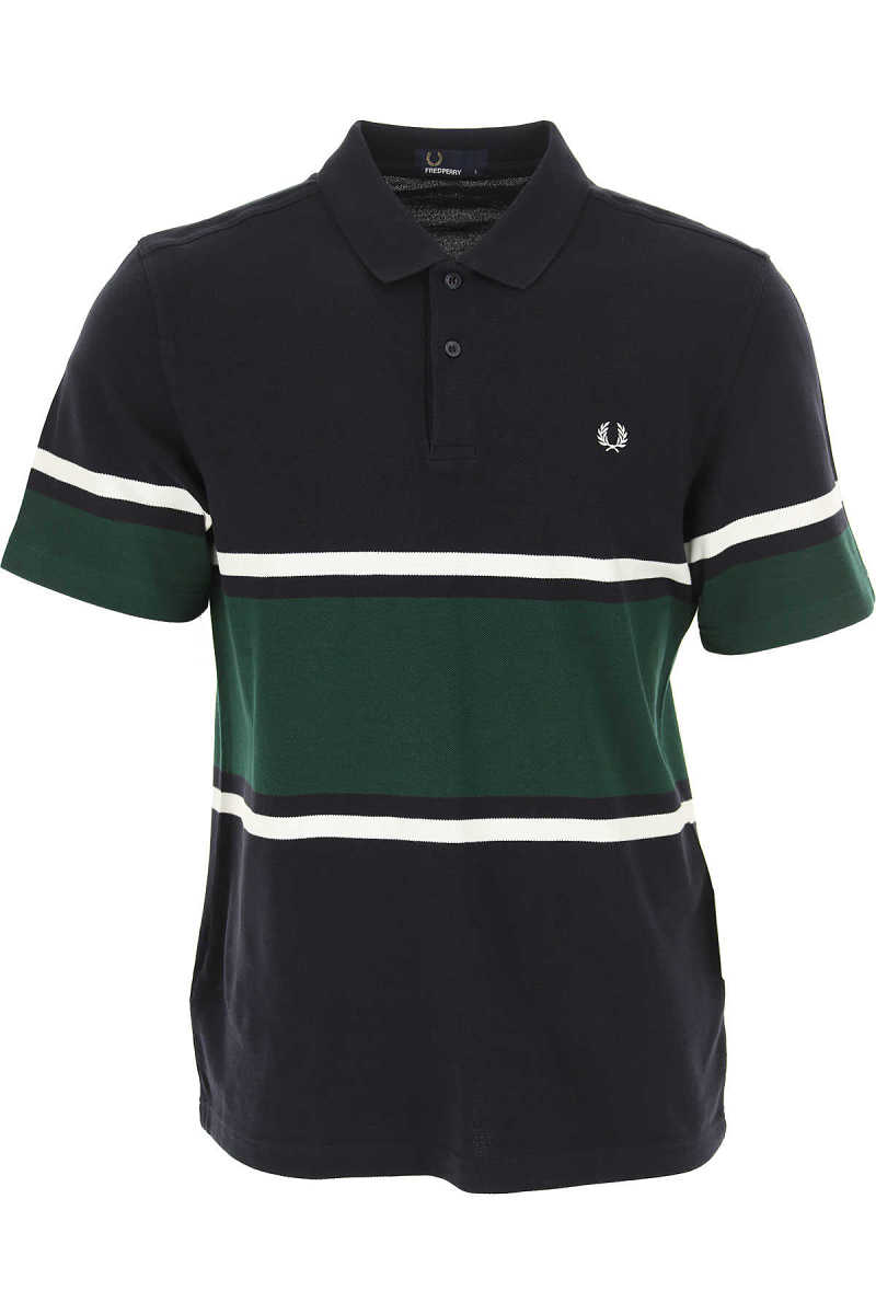 Fred Perry Polo Shirt for Men Navy Blue - GOOFASH