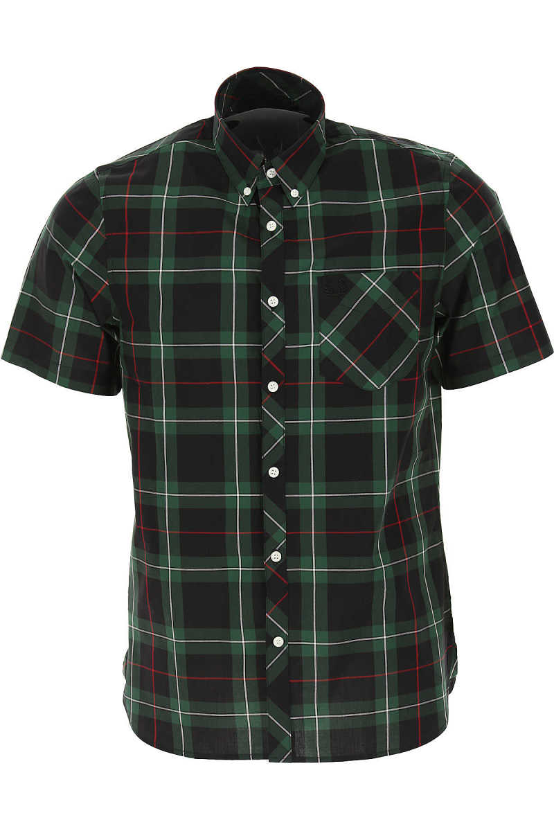 Fred Perry Shirt for Men On Sale Green UK - GOOFASH - Mens SHIRTS
