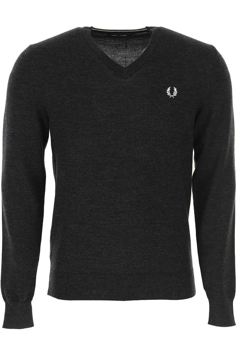 Fred Perry Sweater for Men Jumper Anthracite Grey Melange - GOOFASH