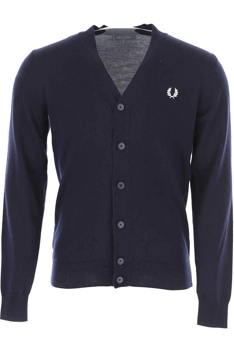 Fred Perry Sweater for Men Jumper Dark Navy Blue UK - GOOFASH - Mens SWEATERS