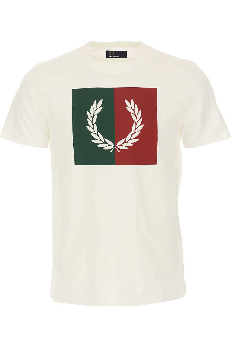 Fred Perry T-Shirt for Men Snow - GOOFASH