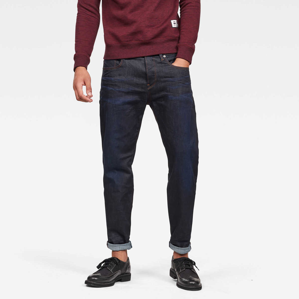 G-Star Male 3301 Relaxed Jeans Relaxed Dark Blue USA - GOOFASH - Mens JEANS