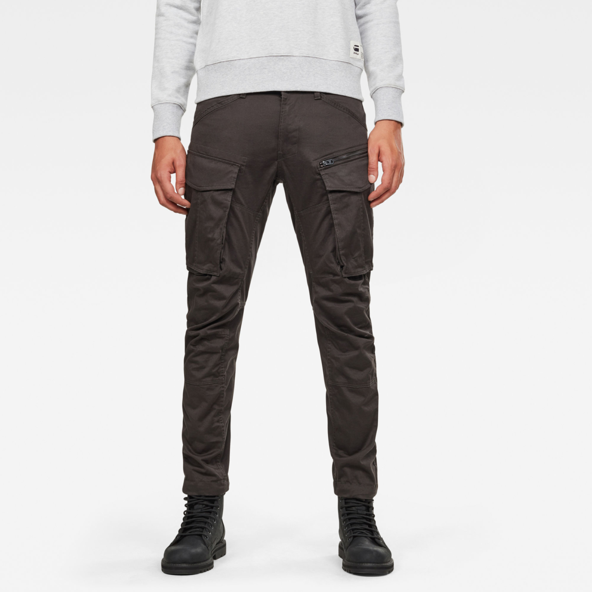 G-Star Male Rovic Zip 3d Straight Tapered Pant Pants Tapered Grey USA - GOOFASH - Mens TROUSERS