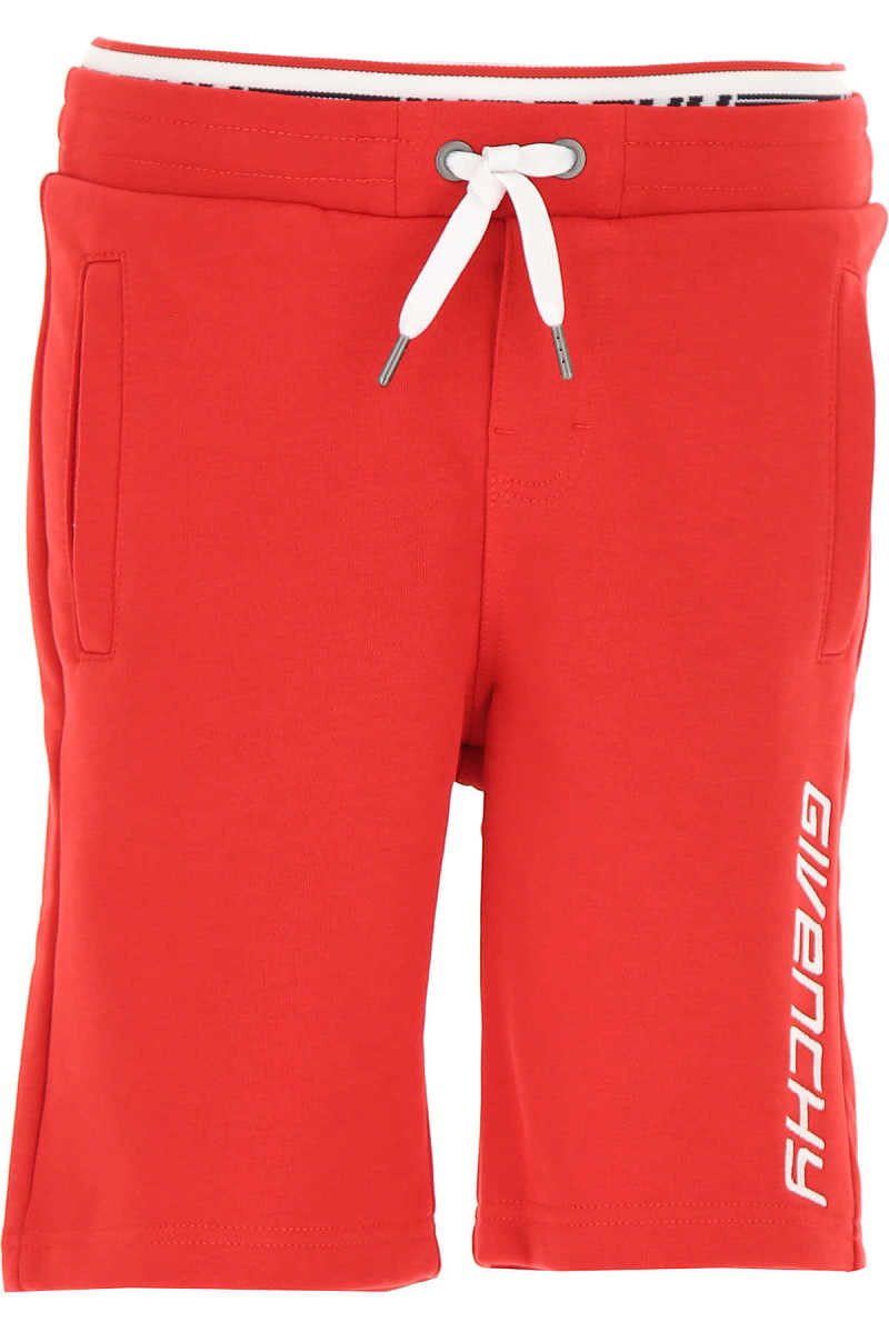 Givenchy Kids Shorts for Boys On Sale Red - GOOFASH
