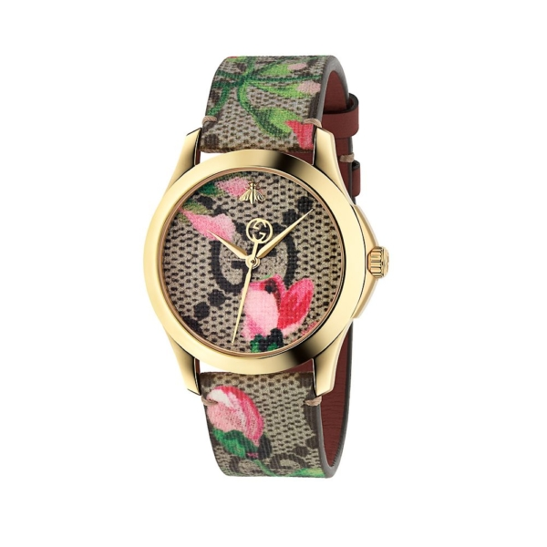 Gucci® G-Timeless Pink Bloom Ladies' Watch - Gucci USA - GOOFASH - Womens WATCHES