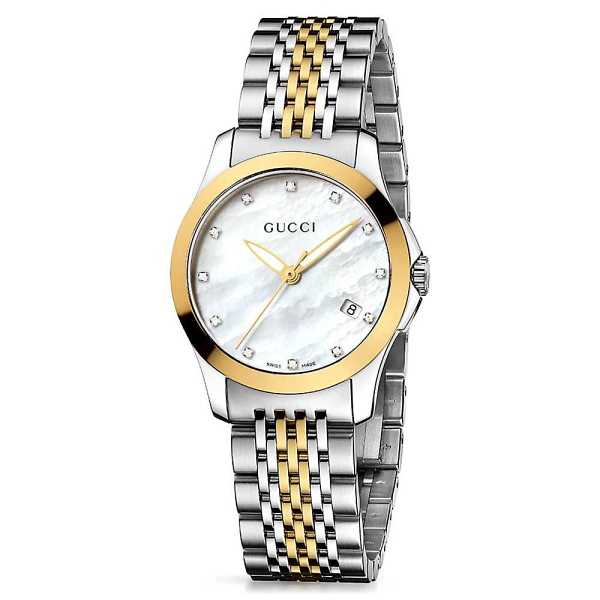 Gucci® G-Timeless Two-Tone Ladies' Watch - Gucci USA - GOOFASH - Womens WATCHES