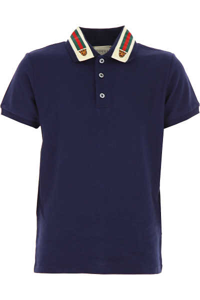 Gucci Kids Polo Shirt for Boys Blue - GOOFASH
