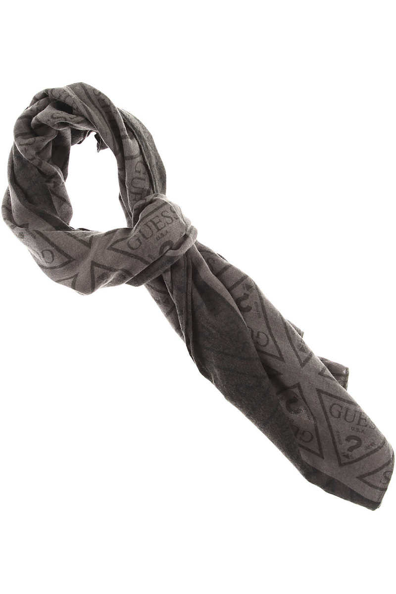 Guess Scarf for Men On Sale Grey - GOOFASH