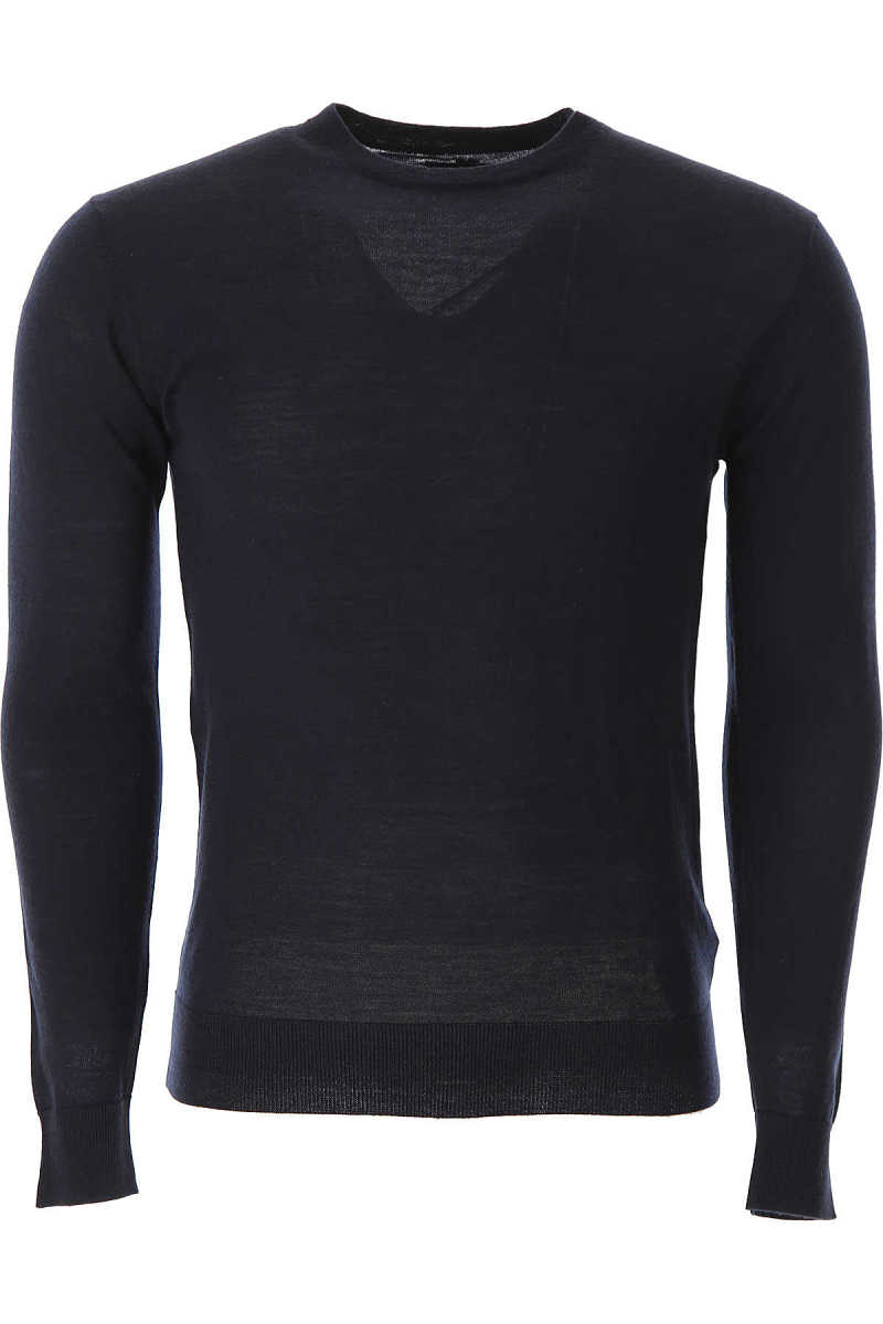 Guess Sweater for Men Jumper On Sale Navy Blue UK - GOOFASH - Mens SWEATERS