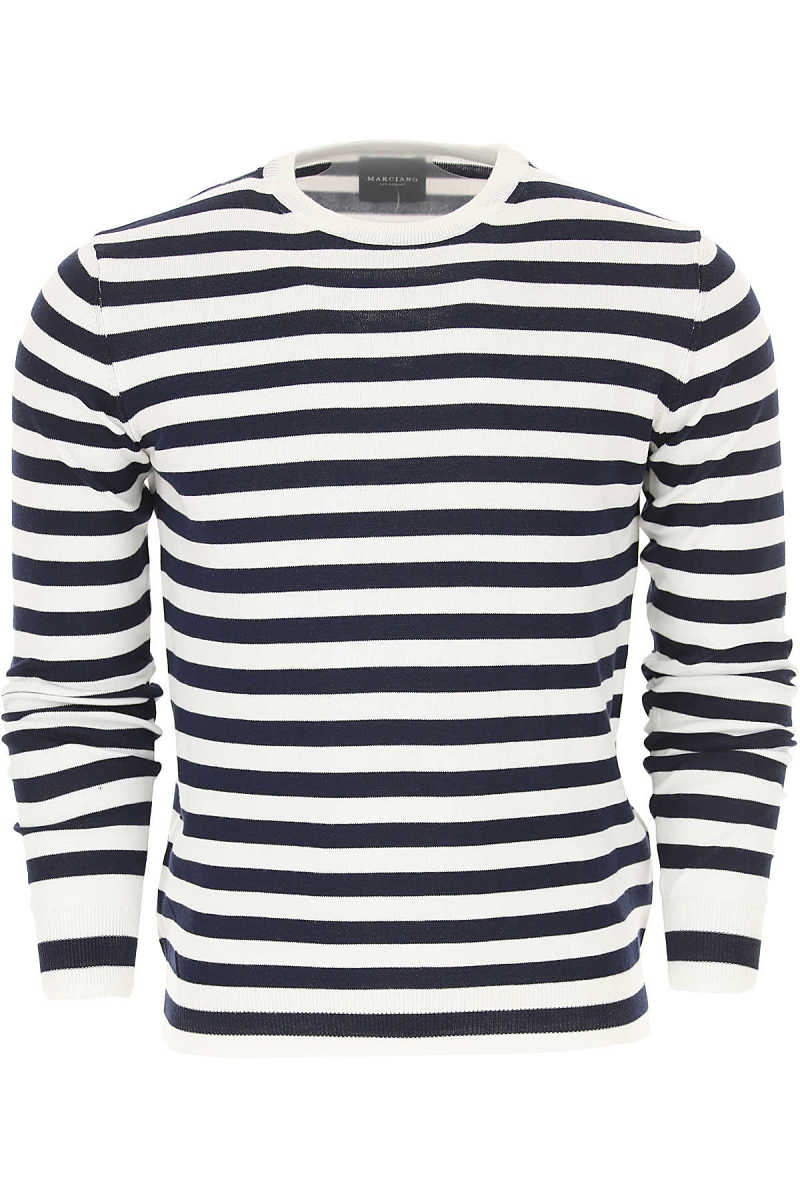 Guess Sweater for Men Jumper On Sale White UK - GOOFASH - Mens SWEATERS