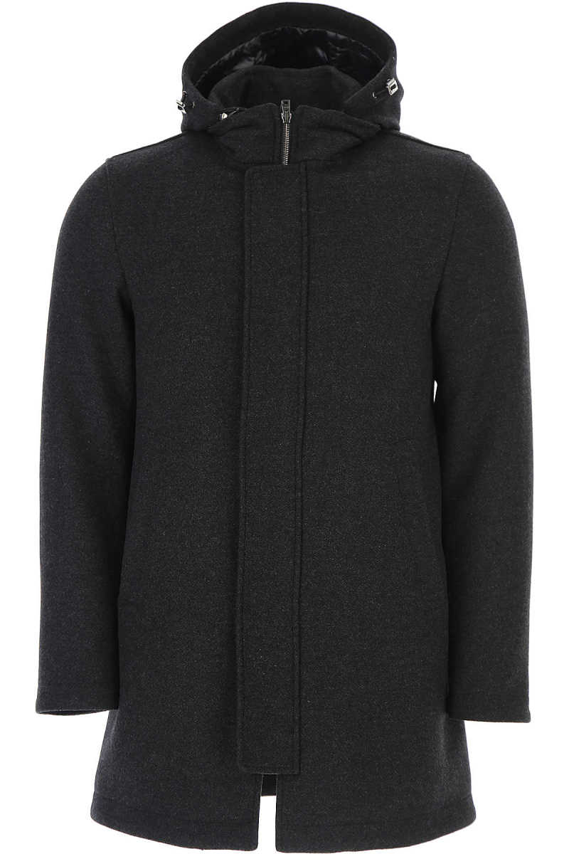 Herno Men's Coat Dark Grey - GOOFASH