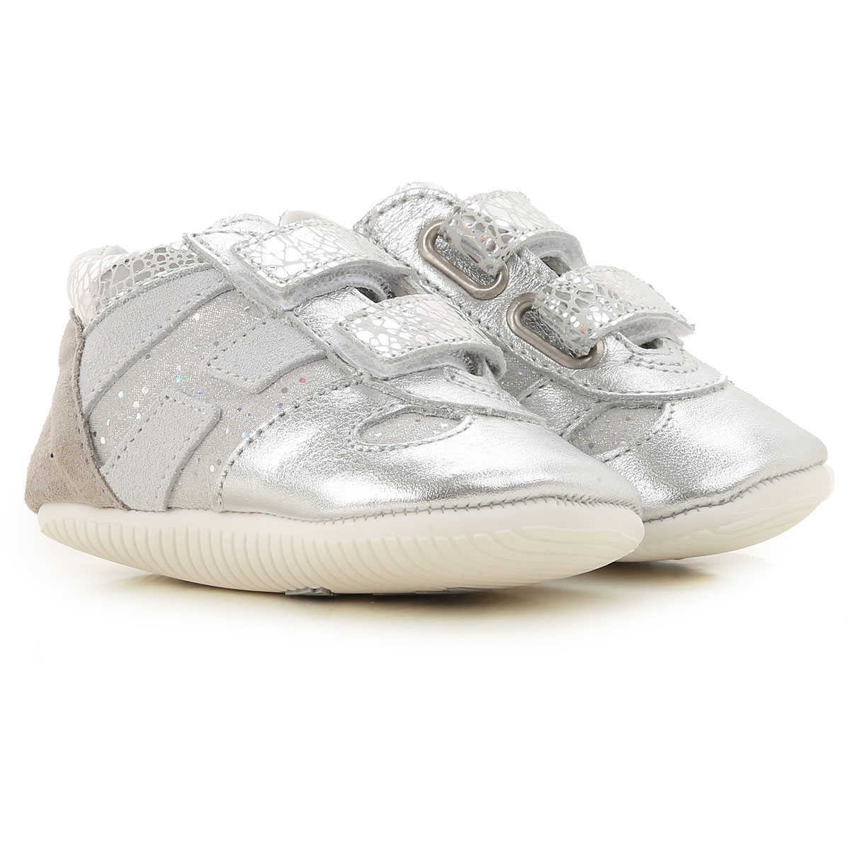 Hogan Baby Shoes for Girls On Sale Grey - GOOFASH -