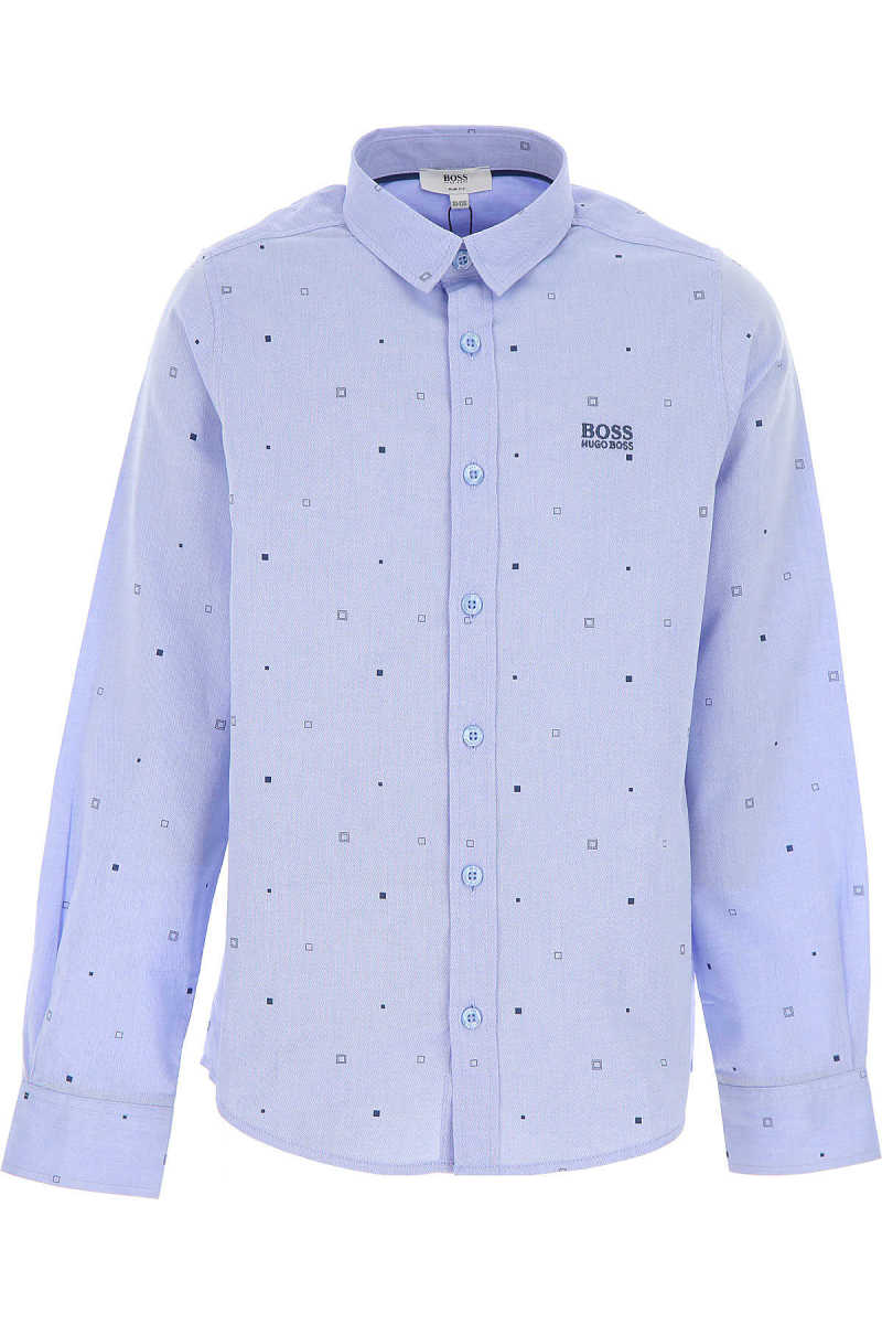 Hugo Boss Kids Shirts for Boys On Sale Blue Sky - GOOFASH - Mens SHIRTS