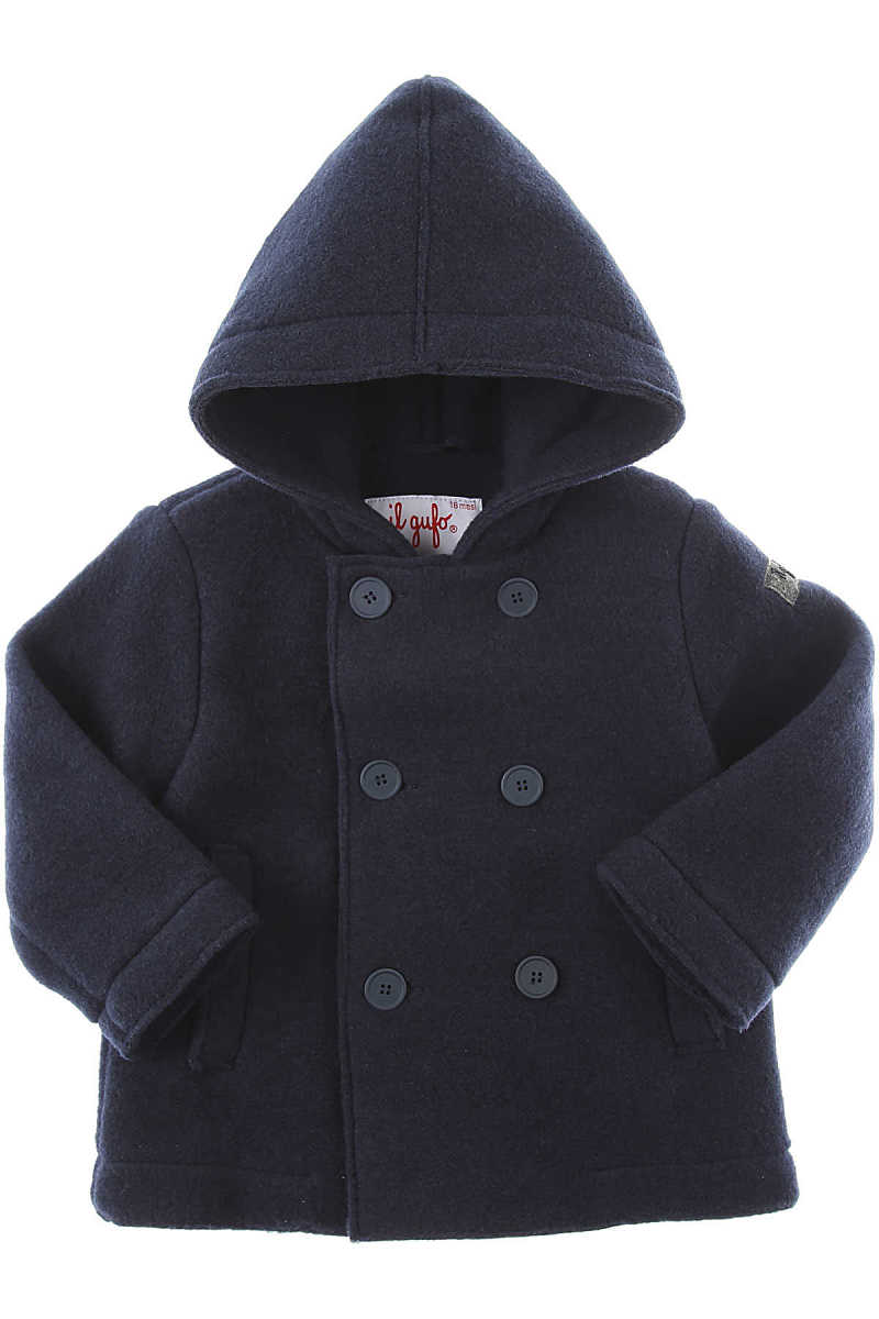 Il Gufo Baby Coats for Boys Blue UK - GOOFASH - Mens COATS