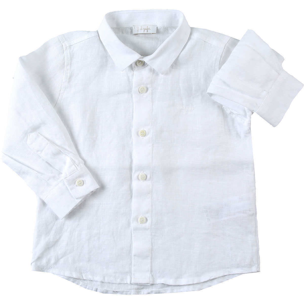 Il Gufo Baby Shirts for Boys On Sale White UK - GOOFASH - Mens SHIRTS