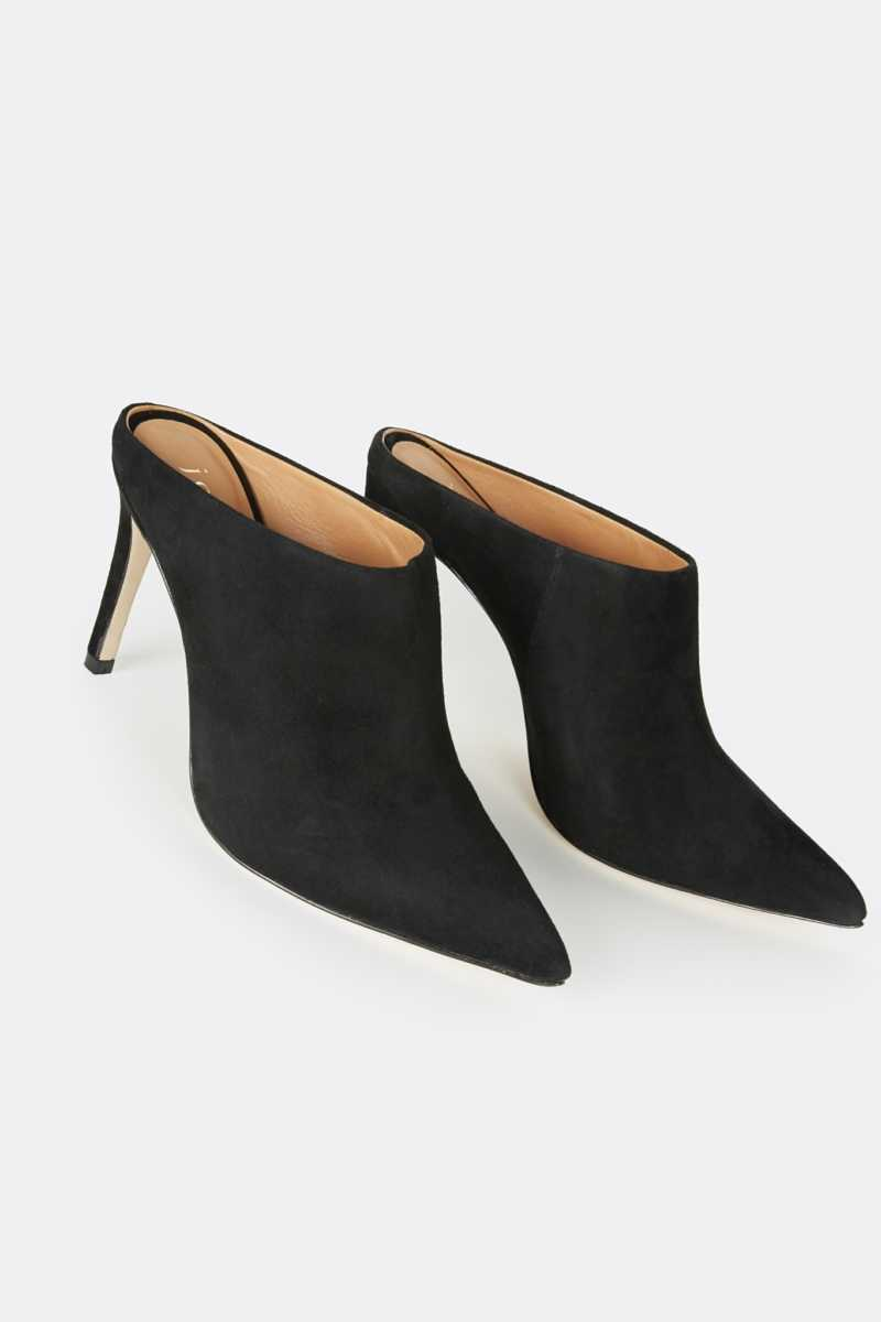 Joie Alinie Suede Mule Black USA - GOOFASH - Womens HOUSE SHOES
