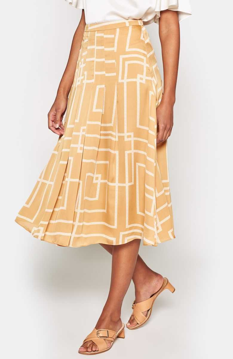 Joie Alinta Skirt Almond USA - GOOFASH - Womens DRESSES