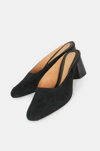 Joie Irone Suede Mule Black USA - GOOFASH - Womens HOUSE SHOES