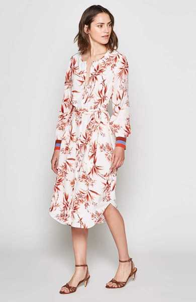 Joie Jeanee Dress Porcelain USA - GOOFASH - Womens DRESSES