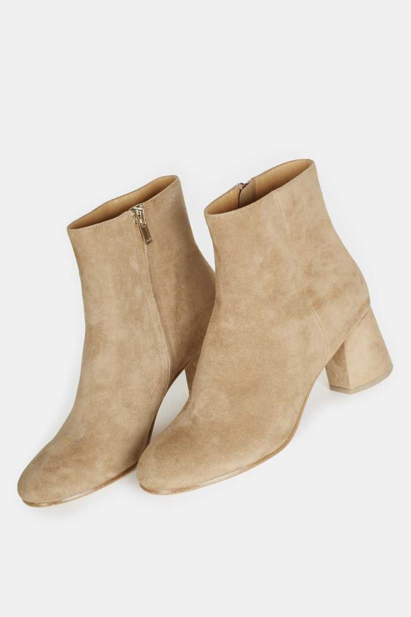 Joie Rarly Suede Bootie Camel USA - GOOFASH - Womens BOOTS