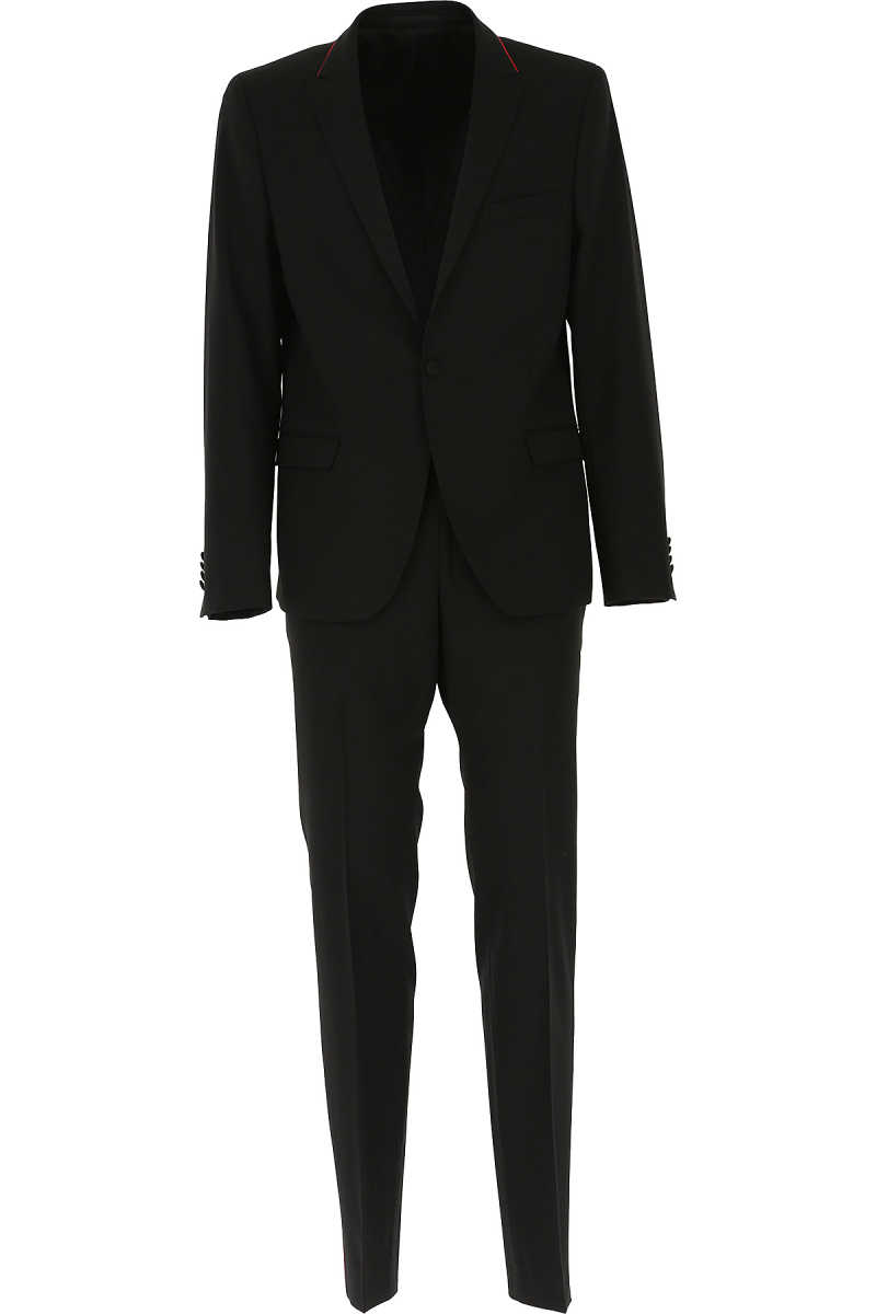 Karl Lagerfeld Men's Suit On Sale Black UK - GOOFASH - Mens SUITS