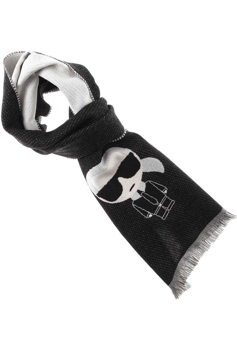 Karl Lagerfeld Scarf for Women On Sale Black UK - GOOFASH