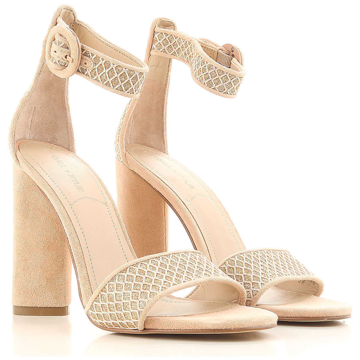 Kendall Kylie Sandals for Women On Sale in Outlet Light Pink UK - GOOFASH