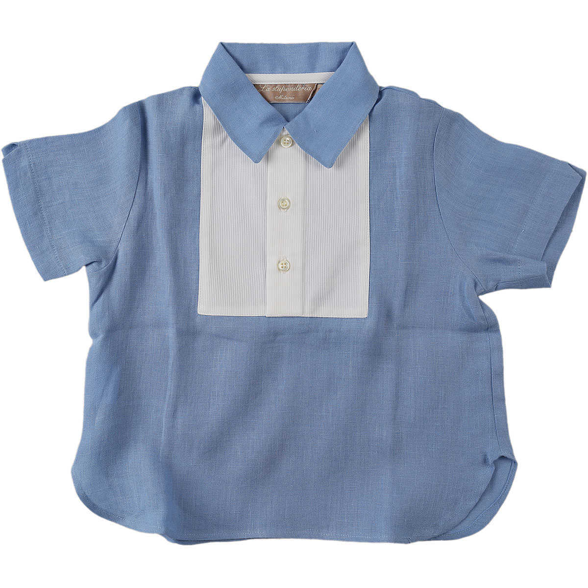 La Stupenderia Baby T-Shirt for Boys On Sale in Outlet Blue UK - GOOFASH - Mens T-SHIRTS