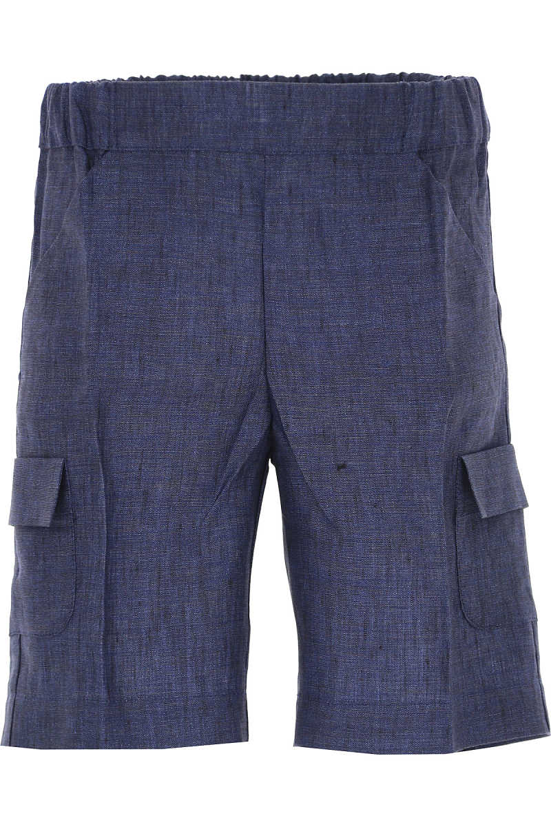 La Stupenderia Kids Shorts for Boys On Sale in Outlet Blue - GOOFASH - Mens SHORTS