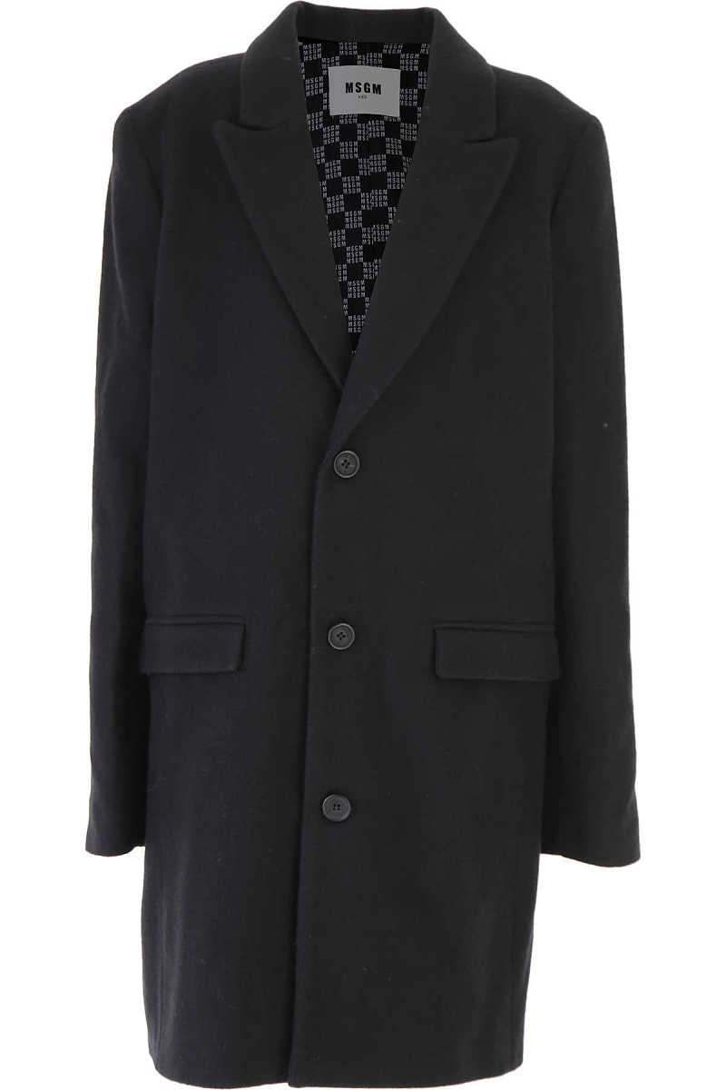 MSGM {DESIGNER} Kids Coat for Boys Black - GOOFASH - Mens COATS
