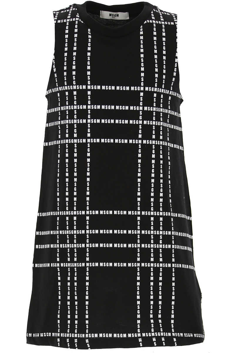 MSGM Girls Dress On Sale Black - GOOFASH - Womens DRESSES