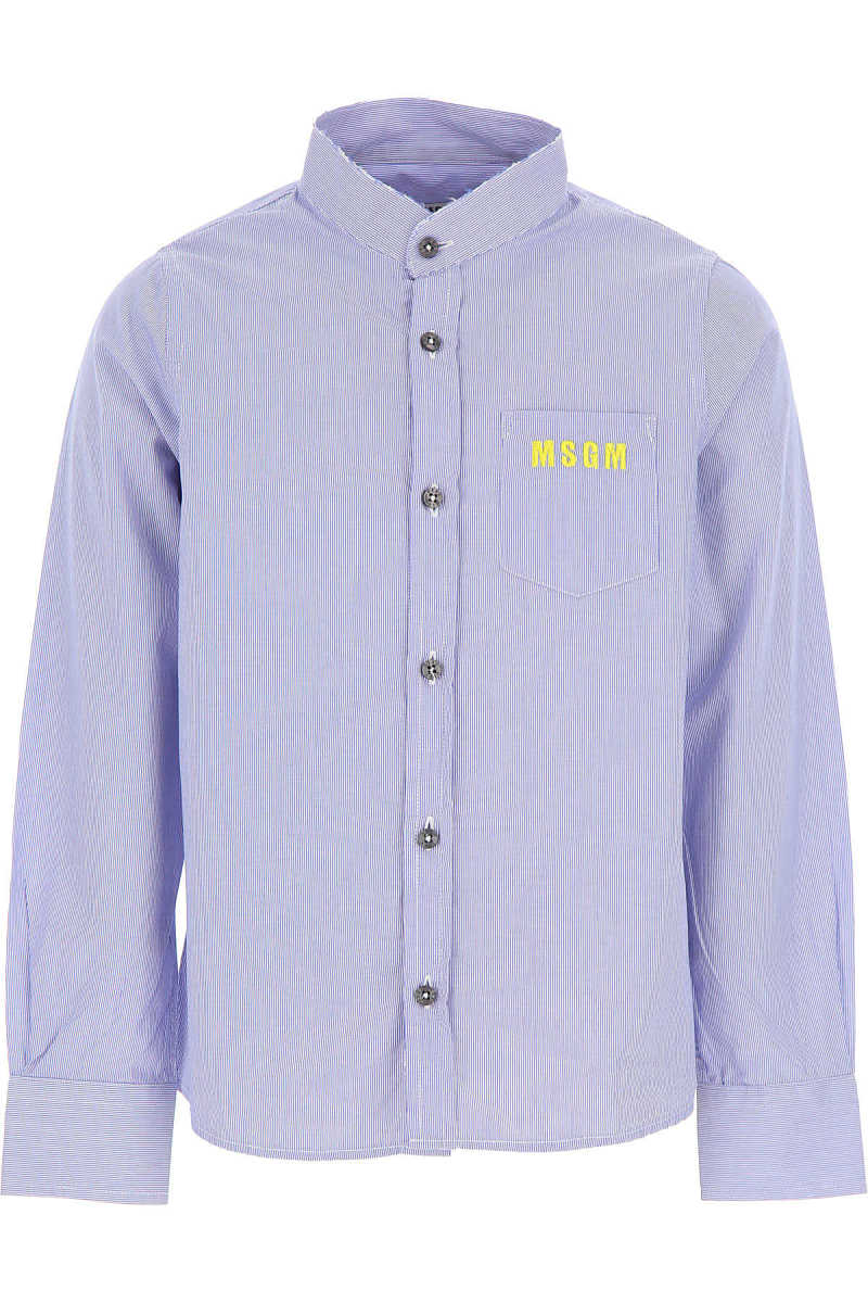 MSGM Kids Shirts for Boys On Sale in Outlet Blue UK - GOOFASH - Mens SHIRTS